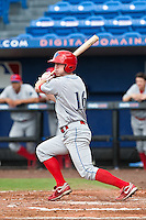 Brian Gump (16) of the Clearwater Threshers during a game vs. the St. Lucie Mets May 30 2010 at Digital Domain Park, Port St. Lucie Florida. St. Lucie won the game against Clearwater by the score of 3-2. Photo By Scott Jontes/Four Seam Images