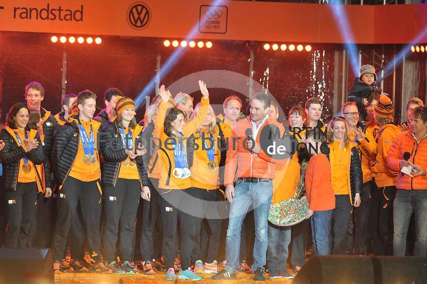 OLYMPICS: ASSSEN: 24-02-14, Welkom Thuis Olympische sporters, huldiging in het centrum van Assen, Ireen Wust, ©foto Martin de Jong