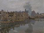 Claude Monet - The Bridge under Repair (1871-1872). Cambridge, Fitzwilliam Museum.