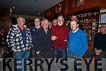 Fishermen with Martin Ferris TD attending the meeting about the ban on fishing in the Cashen river in Purcells Bar in Ballyduff on Thursday night.