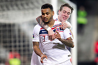 Norway's Joshua King celebrates goal  during the qualifying match for Euro 2020 on 23th March, 2019 in Valencia, Spain. (ALTERPHOTOS/Alconada)<br /> Valencia 23-03-2019 <br /> Football Qualifying match Euro2020<br /> Spain Vs Norway <br /> foto Alterphotos/Insidefoto <br /> ITALY ONLY