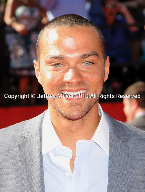 LOS ANGELES, CA. - July 14: Jesse Williams arrives at the 2010 ESPY Awards at Nokia Theatre L.A. Live on July 14, 2010 in Los Angeles, California.