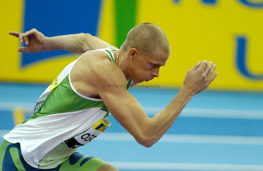 Photo: Richard Lane..Norwich Union Indoor Grand Prix, Birmingham. 17/02/2007. .Sweden's Christian Olsson runs up in the men's triple jump.