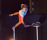 Rotterdam, Netherlands, 11 februari, 2018, Ahoy, Tennis, ABNAMROWTT,  Alexander Zverev (DUI) on the trampoline<br /> Photo: Henk Koster/tennisimages.com