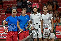 The Hague, The Netherlands, September 16, 2017,  Sportcampus , Davis Cup Netherlands - Chech Republic, Doubles: Pavlasek/Jebavy (CZE) vs Haase/Middelkoop (NED) (R)<br /> Photo: Tennisimages/Henk Koster