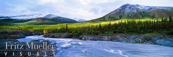 July snowfall on the Firth River, ivvavik National Park, Yukon