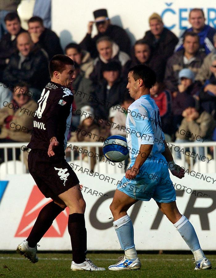 Sport Fudbal Ofk Beograd Partizan Belgrade Serbia Soccer  Nebojsa Marinkovic i Nuhi 3.12.2006. photo: Pedja Milosavljevic<br />
