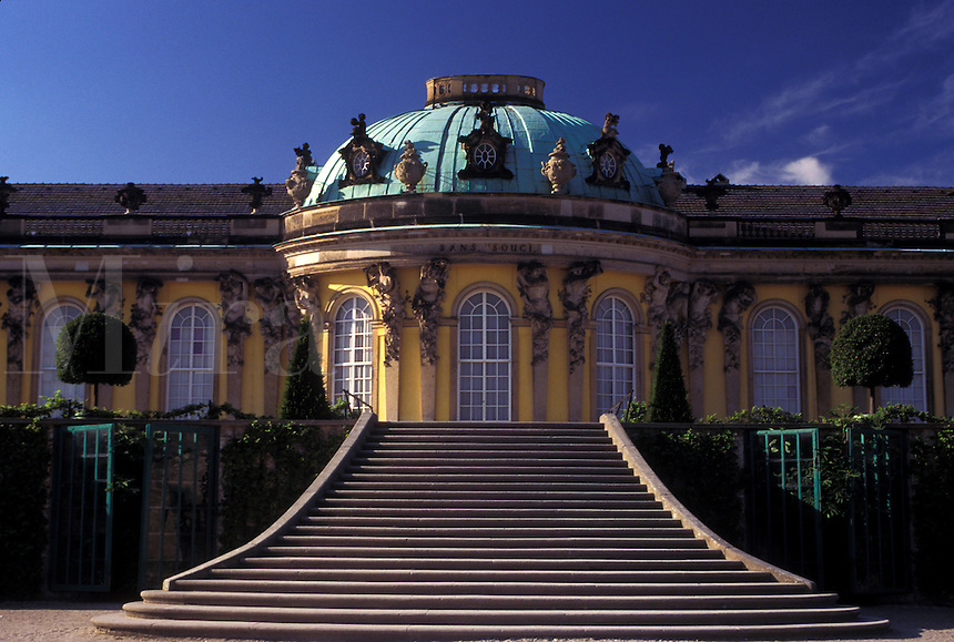 Potsdam, castle, Germany, Brandenburg, Europe, Schloss Sanssouci