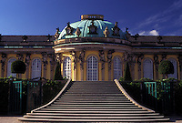 Potsdam, castle, Germany, Brandenburg, Europe, Schloss Sanssouci