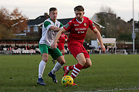 Mason Walsh of Bognor and Remi Sutton of Hornchurch during Hornchurch vs Bognor Regis Town, BetVictor League Premier Division Football at Hornchurch Stadium on 30th November 2019