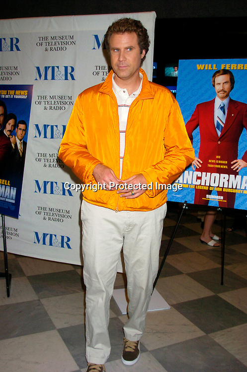 "Will Ferrell ..at a special screening of ""Anchorman The Legend of Ron Burgundy on July 7, 2004 at The Musuem of TV and Radio..in New York City. Photo by Robin Platzer, Twin Images"