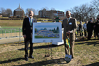 McDaniel College unveils the rendering for the new stadium at the Ground Breaking Ceremony on Friday afternoon.McDaniel College unveils the rendering for the new stadium at the Ground Breaking Ceremony on Friday afternoon.