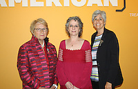 NWA Democrat-Gazette/CARIN SCHOPPMEYER (from left), Stacy Hollander, American Folk Art Museum senior curator and Margaret Conrads, Crystal Bridges director of curatorial affairs visit at the Made in America VIP preview.