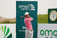 Jean-Baptiste Gonnet (FRA) on the 1st during Round 1 of the Oman Open 2020 at the Al Mouj Golf Club, Muscat, Oman . 27/02/2020<br /> Picture: Golffile   Thos Caffrey<br /> <br /> <br /> All photo usage must carry mandatory copyright credit (© Golffile   Thos Caffrey)