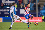 Filipe Luis of Atletico de Madrid fights for the ball with Leo Baptistao of RCD Espanyol during the La Liga match between Atletico de Madrid and RCD Espanyol at the Vicente Calderón Stadium on 03 November 2016 in Madrid, Spain. Photo by Diego Gonzalez Souto / Power Sport Images