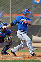 New York Mets first baseman Cole Frenzel #13 at bat during a minor league spring training intrasquad game at the Port St. Lucie Training Complex on March 27, 2012 in Port St. Lucie, Florida.  (Mike Janes/Four Seam Images)