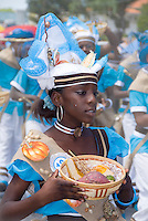 Willemstad, Curacao, Netherlands Antilles, April 2009. The Seu Harvest festival on the Caribbean island of Curacao, is the bigest curltural event. Dressed up in traditional clothing that goes back to the days of slavery, the people celebrate together. Photo by Frits Meyst/Adventure4ever.com