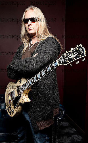 Alice In Chains - guiarist Jerry Cantrell - studio photosession in Birmingham UK - NOV 13, 2009.  Photo credit: Ashley Maile/Iconicpix  **NO WEBSITES* *