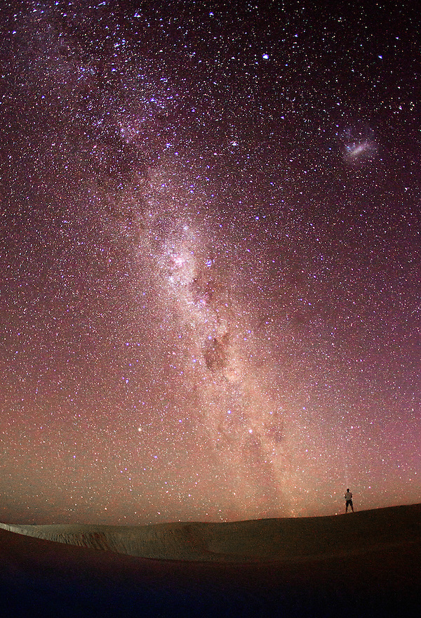 Looking at the Milky Way Australia