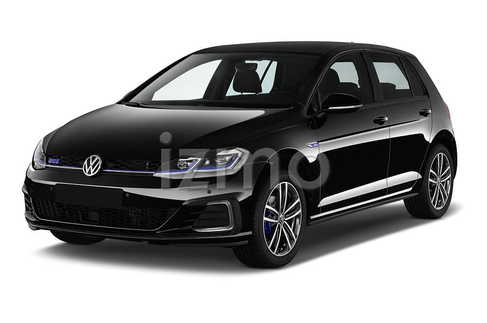 2018 Volkswagen Golf GTE Base 5 Door Hatchback angular front stock photos of front three quarter view