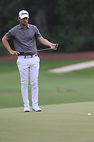 Bernd Wiesberger (AUT) on the 18th during the 1st round of the DP World Tour Championship, Jumeirah Golf Estates, Dubai, United Arab Emirates. 21/11/2019<br /> Picture: Golffile | Fran Caffrey<br /> <br /> <br /> All photo usage must carry mandatory copyright credit (© Golffile | Fran Caffrey)