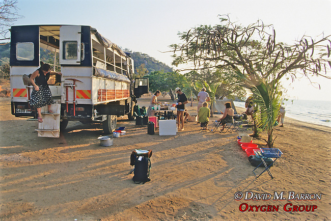 Campers At Livingstonia Beach