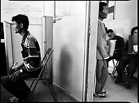 Battambang, Cambodia, December 2006..Following blood testing, patients are being told by hospital staff they are HIV positive..TB is endemic in the region, fueled by poverty, malnutrition, inadequate hygiene and the spreading of HIV/AIDS.