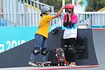 (L-R) Kaya Isa, Sakura Yosozumi (JPN), <br /> AUGUST 29, 2018 - Skateboarding : <br /> Women's Park  Final<br /> at Jakabaring Sport Center Skatepark <br /> during the 2018 Jakarta Palembang Asian Games <br /> in Palembang, Indonesia. <br /> (Photo by Yohei Osada/AFLO SPORT)