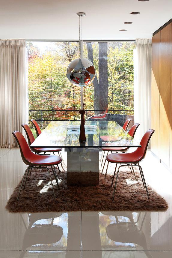 contemporary bright dining room