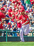 7 September 2014: Washington Nationals first baseman Adam LaRoche rounds third after hitting a solo home run against the Philadelphia Phillies at Nationals Park in Washington, DC. The Nationals defeated the Phillies 3-2 to salvage the final game of their 3-game series. Mandatory Credit: Ed Wolfstein Photo *** RAW (NEF) Image File Available ***