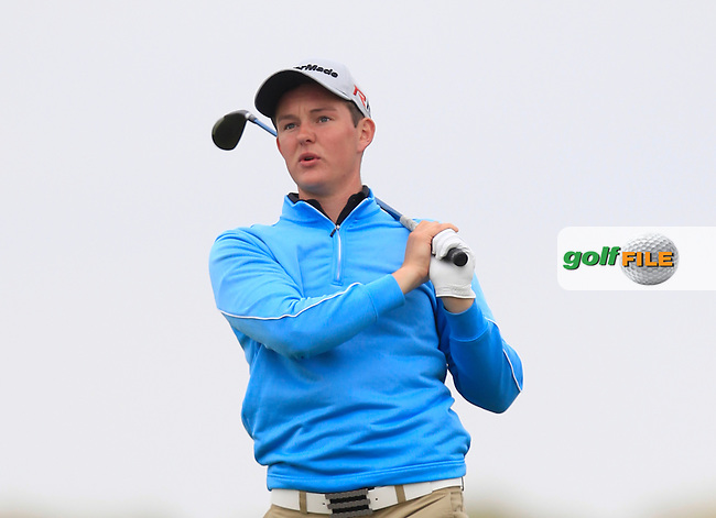 John Ross Galbraith (Whitehead) on the 9th tee during Round 1 of the East of Ireland Amateur Open Championship at Co. Louth Golf Club, Baltray on Saturday 30th May 2015.<br /> Picture:  Thos Caffrey / www.golffile.ie