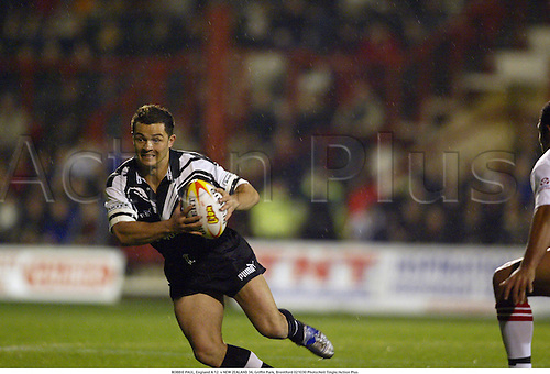 ROBBIE PAUL, England A 12  v NEW ZEALAND 34, Griffin Park, Brentford 021030 Photo:Neil Tingle/Action Plus...2002.rugby league.Kiwis
