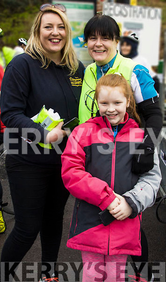 Pictured at the Valentine Ride in memory of Ita Corridan on Saturday in Caherdaniel were Elaine O'Shea, Elaine Murphy and Shannon Murphy.
