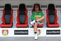 FUSSBALL   1. BUNDESLIGA  SAISON 2012/2013   4. Spieltag Bayer 04 Leverkusen - Borussia Moenchengladbach      23.09.2012 Mike Hanke (Borussia Moenchengladbach)  sitzt auf der Ersatzbank