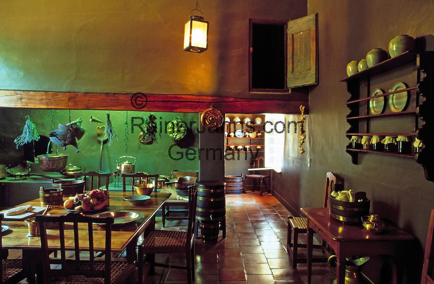 South Africa, near Cape Town, Winelands Franschhoek: Boschendal Manor House - kitchen