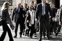 Roma 04/04/2012 Il Ministro per il Lavoro e le Parti Sociali Elsa Fornero,esce da Palazzo Chigi per andare all'incontro con la stampa per discutere della Riforma sul Lavoro..Foto Serena Cremaschi Insidefoto