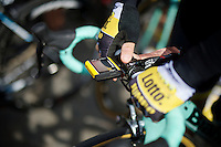 getting ready for the start<br /> <br /> 79th Flèche Wallonne 2015