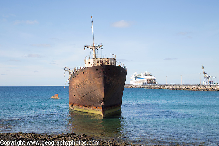 Shipwreck or Temple Hall or Telemon ship, Arrecife, Lanzarote, Canary Islands, Spain
