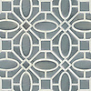 Maxwell, a waterjet stone and Serenity glass mosaic, shown in Venetian honed Bardiglio and Tropical White glass. Designed by New Ravenna.