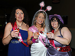 Deborah Harrison celebrating her hen night in the Star and Crescent with bridesmaids Rita Tracey and Maria Levins. Photo: Colin Bell/pressphotos.ie