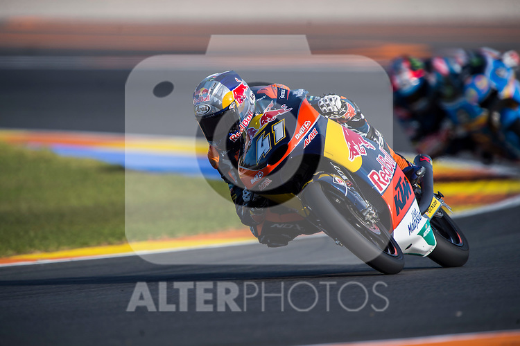 VALENCIA, SPAIN - NOVEMBER 11: Brad Binder during Valencia MotoGP 2016 at Ricardo Tormo Circuit on November 11, 2016 in Valencia, Spain