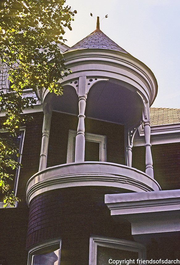 Alton: A house on Prospect. Detail of cupola. Photo '77.