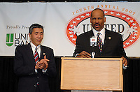 DC United owners William H. C. Chang and Victor MacFarlane at awards presentation. DC United 4th Annual Awards Reception took place October 22, 2007 at the Ronald Reagan Building, Washington, DC honoring player achievements for the 2007 season..