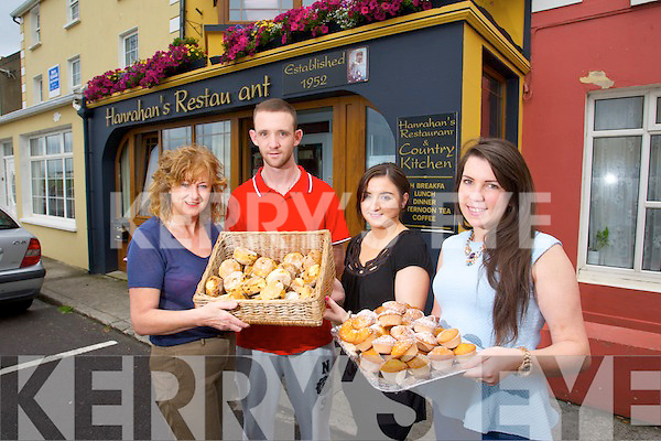 Hanrahan's Restaurant and Country Kitchen, Ballybunion, celebrates 20 years in Business with a family fun Day on Sunday from 12 noon. Pictured Bernadette Hanrahan, Owner, Edward Hanrahan, Aisling Kelly and Rachel Hanrahan