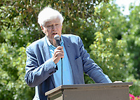 """Dedication of """"Lorelee's"""" Legacy Garden with Axel Steuer '65 and Loreli Steuer, their family and other guests on Saturday, July 20, 2019 next to the Hameetman Science Center on the campus of Occidental College.<br /> <br /> (Photo by John Valenzuela, Freelance Photographer)"""