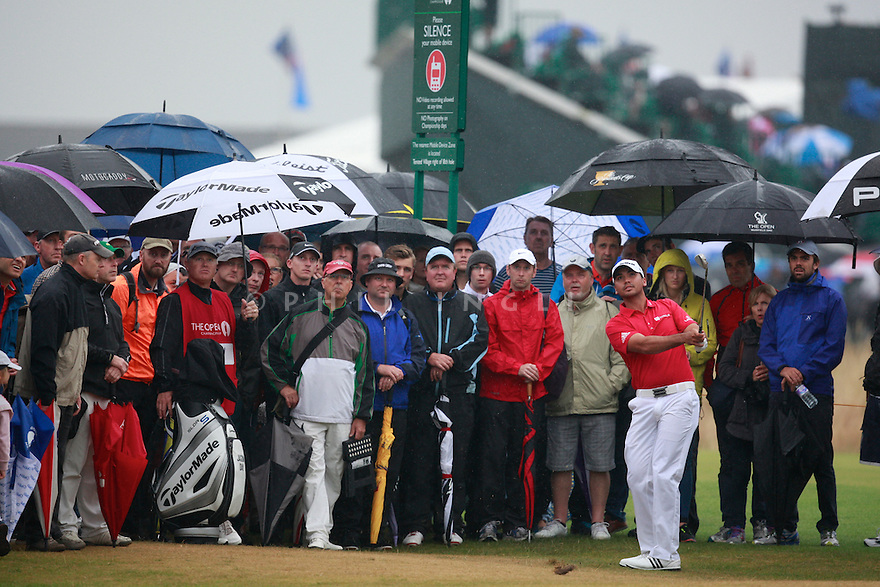 Jason DAY (AUS) in action during the third round of the 143rd Open Championship played at Royal Liverpool Golf Club, Hoylake, Wirral, England. 17 - 20 July 2014 (Picture Credit / Phil Inglis)