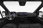 Stock photo of straight dashboard view of 2019 Mercedes Benz Sprinter-Fourgon - 4 Door Cargo Van Dashboard