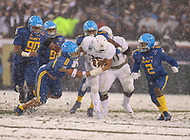 Philadelphia, PA - December 9, 2017:    Army Black Knights running back Darnell Woolfolk (33) runs the ball during the 118th game between Army vs Navy at Lincoln Financial Field in Philadelphia, PA. (Photo by Elliott Brown/Media Images International)