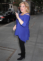 NEW YORK, NY - OCTOBER 12:  Nancy Grace spotted leaving 'The View' where she promoted her Hallmark Channel movie 'Hailey Dean Mystery: Murder with Love'  and new novel 'Murder in the Courthouse: A Hailey Dean Mystery' in New York, New York on October 12, 2016.  Photo Credit: Rainmaker Photo/MediaPunch
