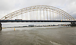 Grote Beer bridge spanning River Maas at Ablasserdam, Rotterdam, Netherlands